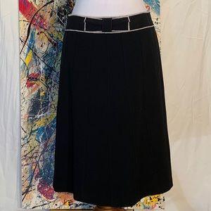 Ann Taylor black and white pencil skirt.